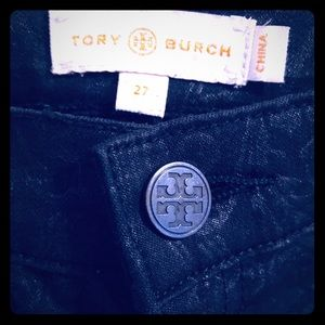 Tory Burch designer pants 27 black